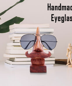 Wooden Nose Shaped Glasses Stand