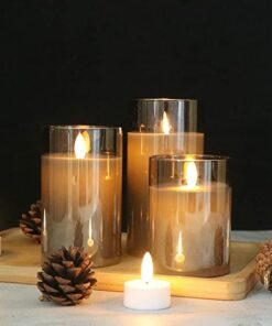 Flameless Glass Candles