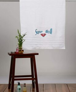Embroidered bath towel