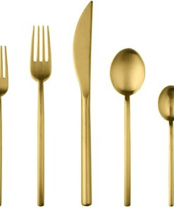 Brushed gold place setting