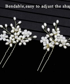 Floral Crystal Hair Pins