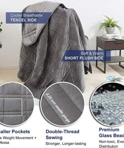 Weighted double-sided blanket