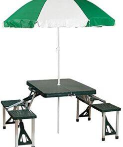Picnic Table And Umbrella