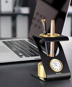 Clock With Pen Holder