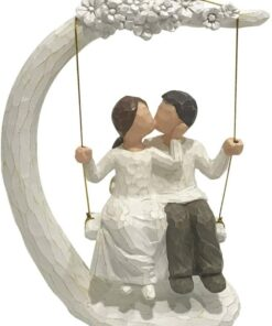 Couple Hand Painted Figurines