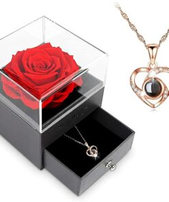 Handmade Rose with Necklace
